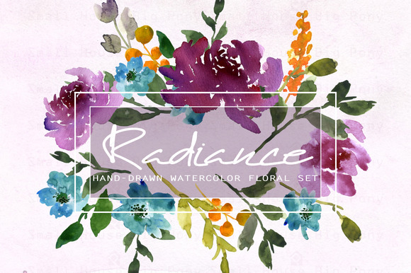 Radiance-Watercolor Clip Art