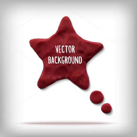 Vector Banner Plasticine Star