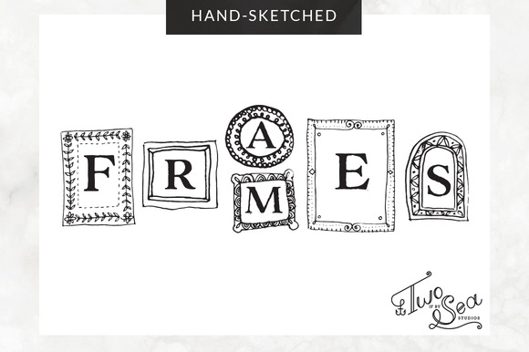 Hand-Sketched Vector Frames Icons
