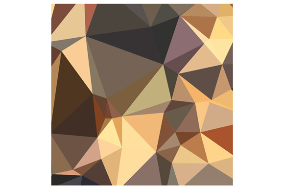 Bole Brown Abstract Low Polygon Back