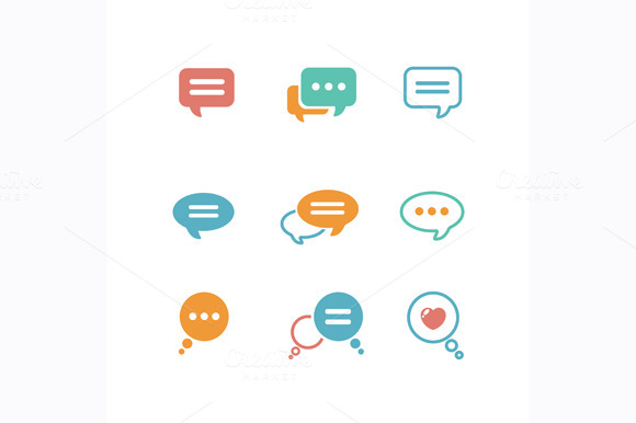 Vector Speech Bubble Icon Set