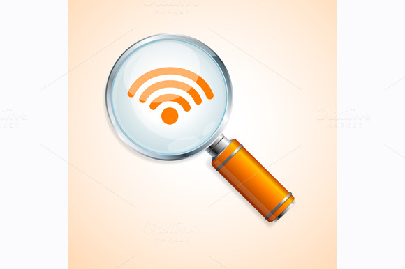 Vector Search Wifi Concept
