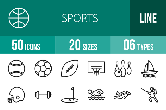 50 Sports Line Icons