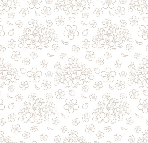Seamless Simple Floral Pattern