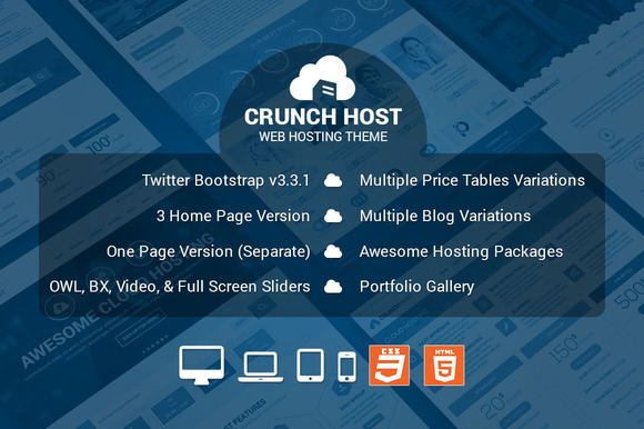 CrunchHost Responsive HTML Template