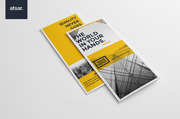 Yellow Architecture Trifold