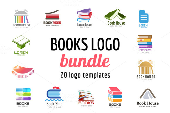 School Book Vector Logo Template Set