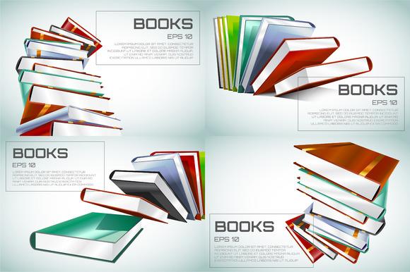 Book 3D Vector Wallpaper Background
