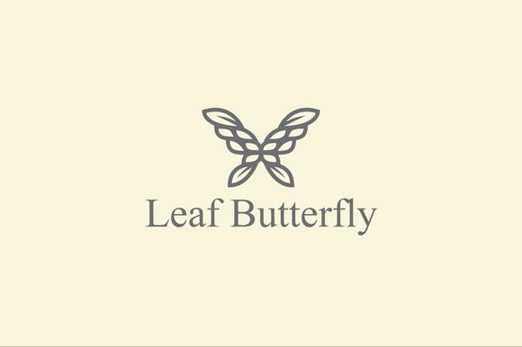 Leaf Butterfly Logo Template