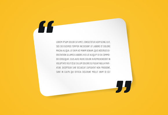 Quote Text Template Business Card