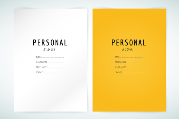 Brochure Template Resume Folder