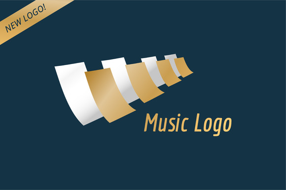 Music Piano Keys Logo Icon Template