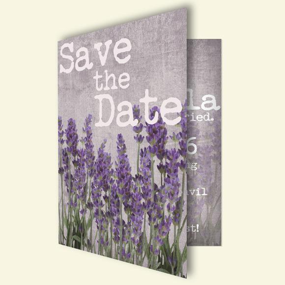 Lavender Wedding Invitation Card
