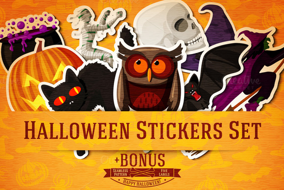 Halloween Stickers Set Bonus