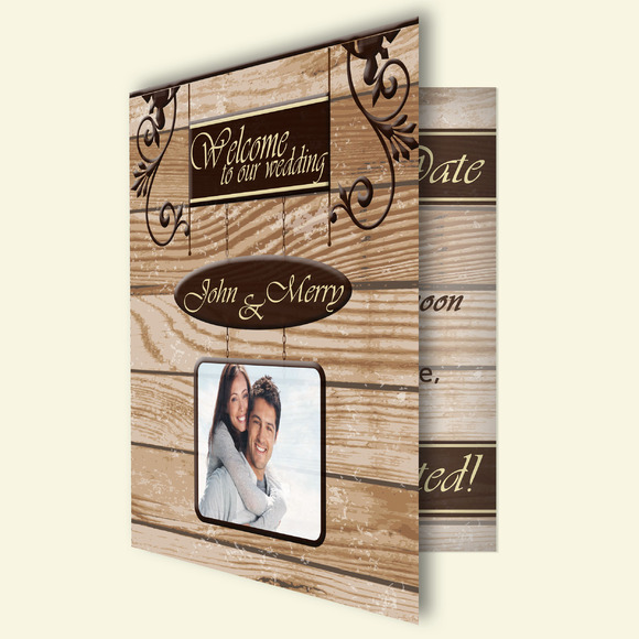 Signboard Wedding Invitation Card