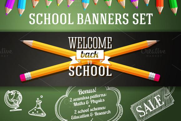 Back To School Banners Set Bonus
