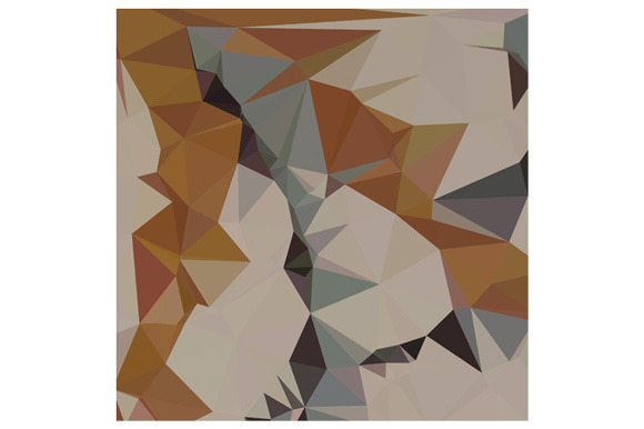 Cornsilk Brown Abstract Low Polygon