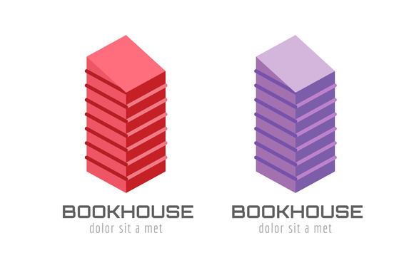 Book Skyscraper Template Logo Icon