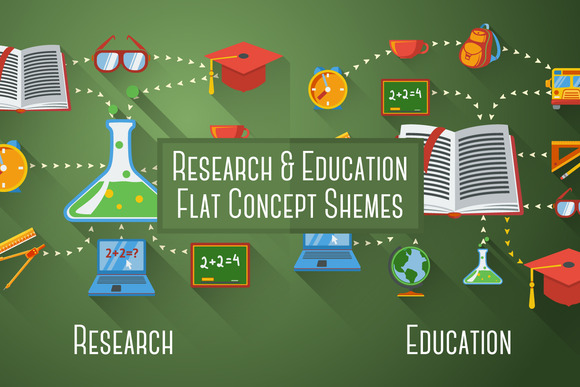 Two Flat Education Concept Schemes