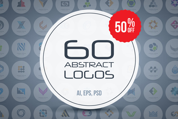 60 Abstract Logos Super Bundle