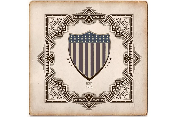 Vintage Style Card With USA Shield