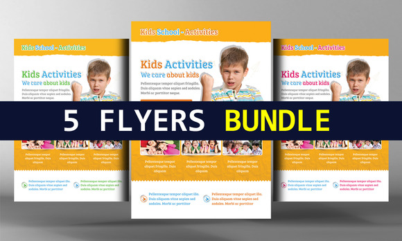 5 Kids Playgroup Education Flyers