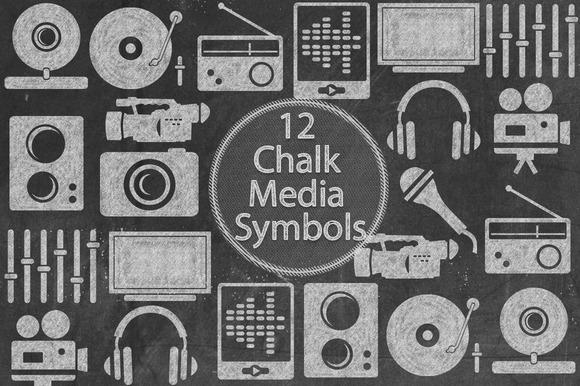 Chalk Media Symbols