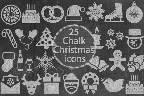 Chalk Christmas Icons