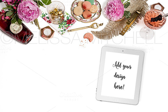 Pink Champagne Styled Mockup #26
