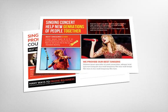 Singing Concert Postcard Template