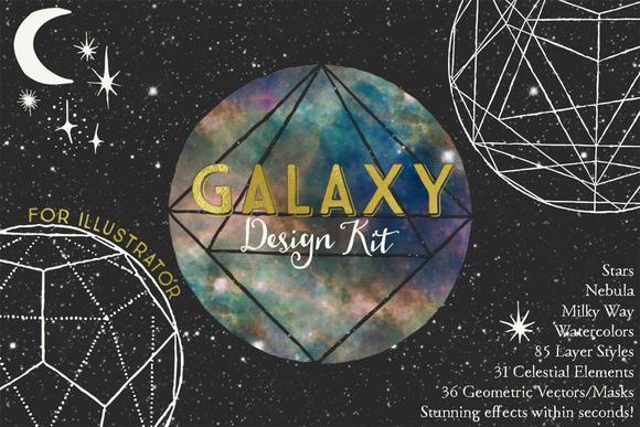 Galaxy Design Kit For Illustrator