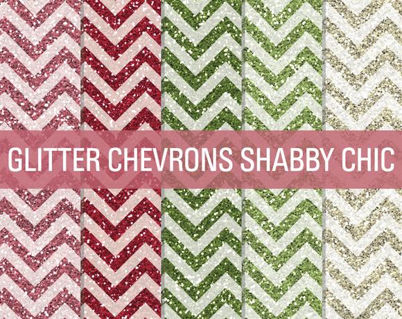 Glitter Chevron Textures Shabby Chic