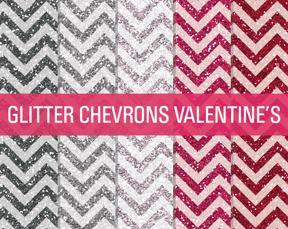 Glitter Chevron Textures Valentine S