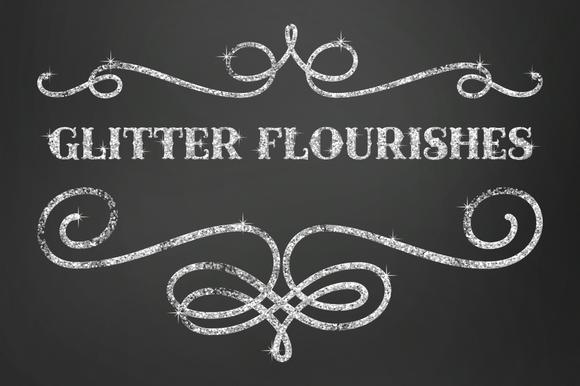 Clip Art Glitter Flourishes
