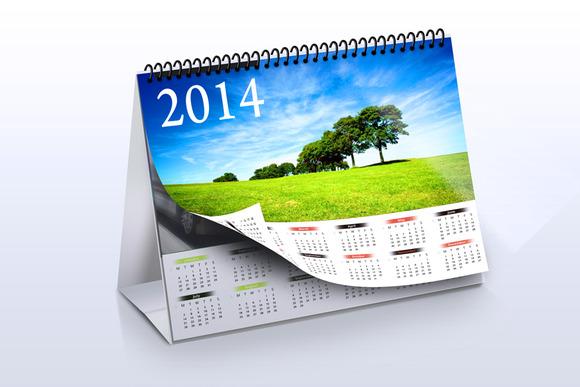 Desk Calendar Mock-up