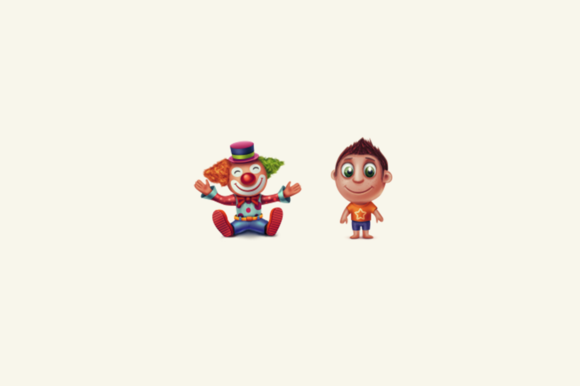 Clown And Child Icon