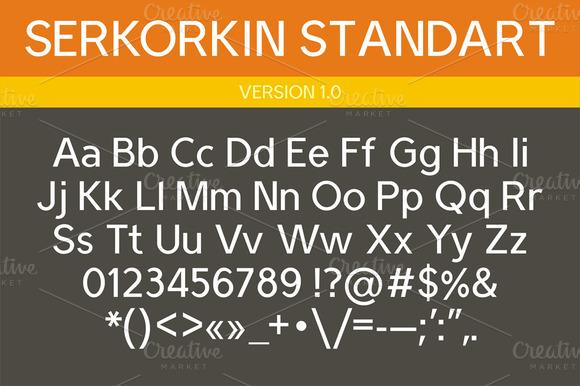 Serkorkin Standart Font