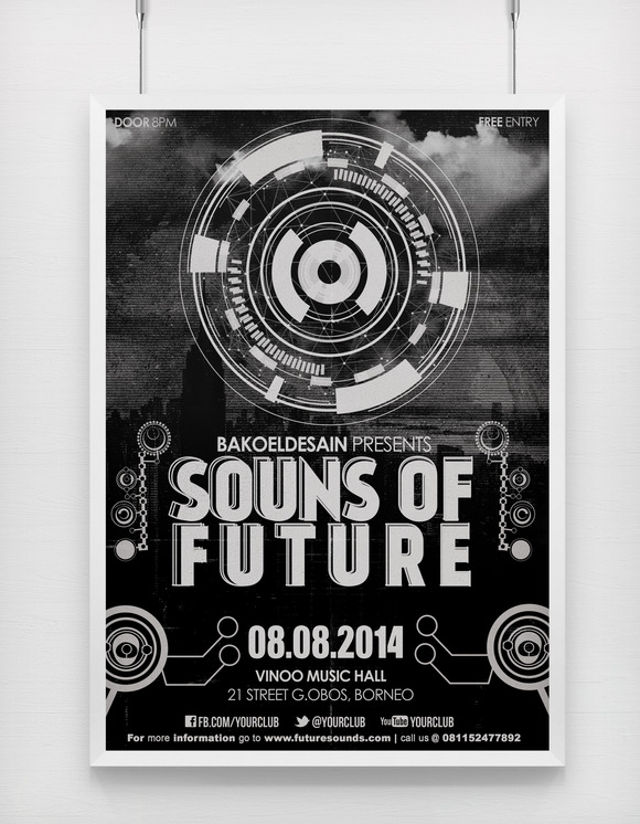 Sounds Of Future Music Flyer