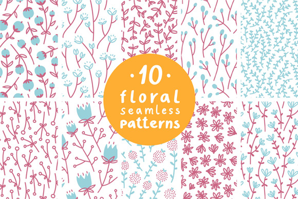 Floral Patterns Set 2