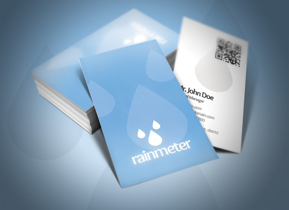 Rain Meter Business Card