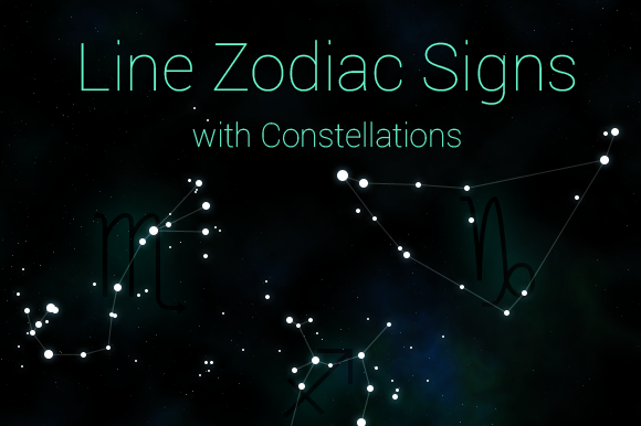 Line Zodiac Signs With Constellation
