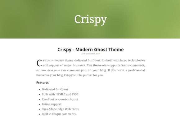 Crispy Modern Ghost Theme