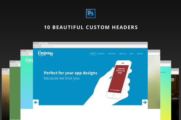 10 Beautiful Designed Headers