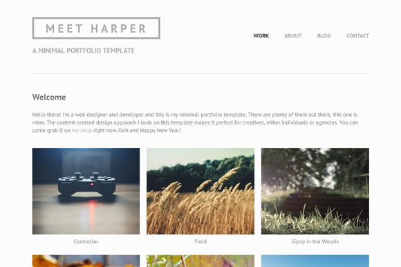 Harper Minimal Portfolio Template