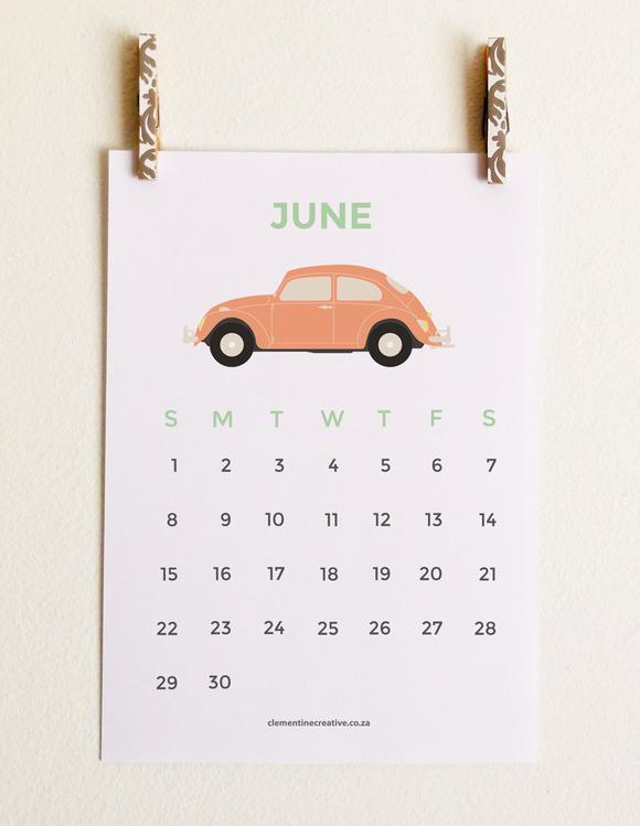 Cute Printable 2014 Calendar