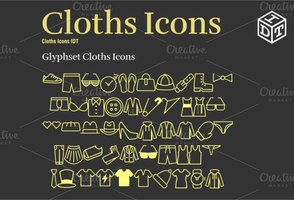 Cloths Icons Font Web Font