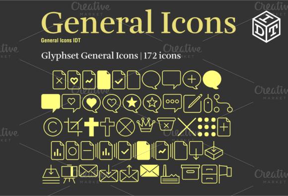 General Icons Font Web Font