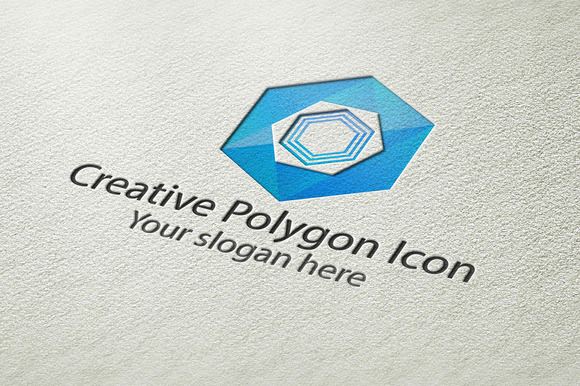 Creative Polygon Icon Logo