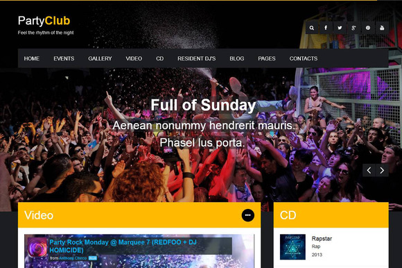 Party Club Night Club HTML Theme
