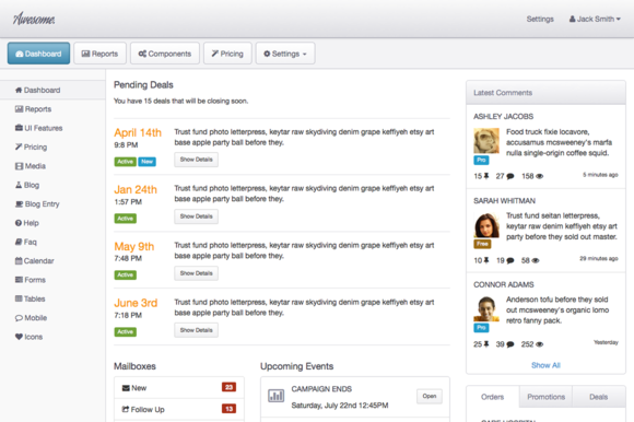 Awesome Admin A Bootstrap 3 Theme